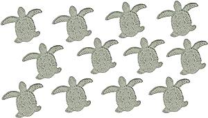 Set of 12 White Cast Iron Sea Turtle Drawer Pulls Decorative Cabinet Door Knobs Nautical Bathroom Kitchen Beach Home Decor
