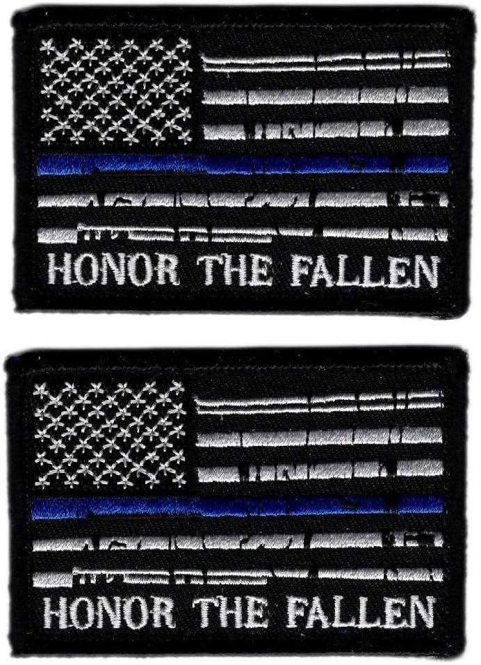 Honor los Caídos gancho delgada línea azul Policía de EE. UU. Bandera Moral Patch (Bundle): Amazon.es: Juguetes y juegos