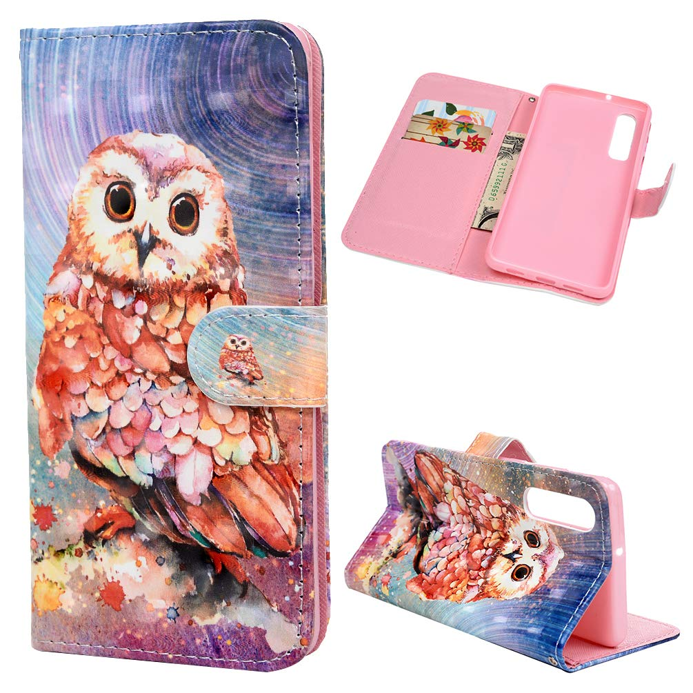 Case for Huawei P30 - Shockproof Leather Flip Wallet Phone Case Painting Butterfly Design for Huawei P30 with Magnetic Closure Kickstand Card Holder TPU Bumper Bamboo Panda