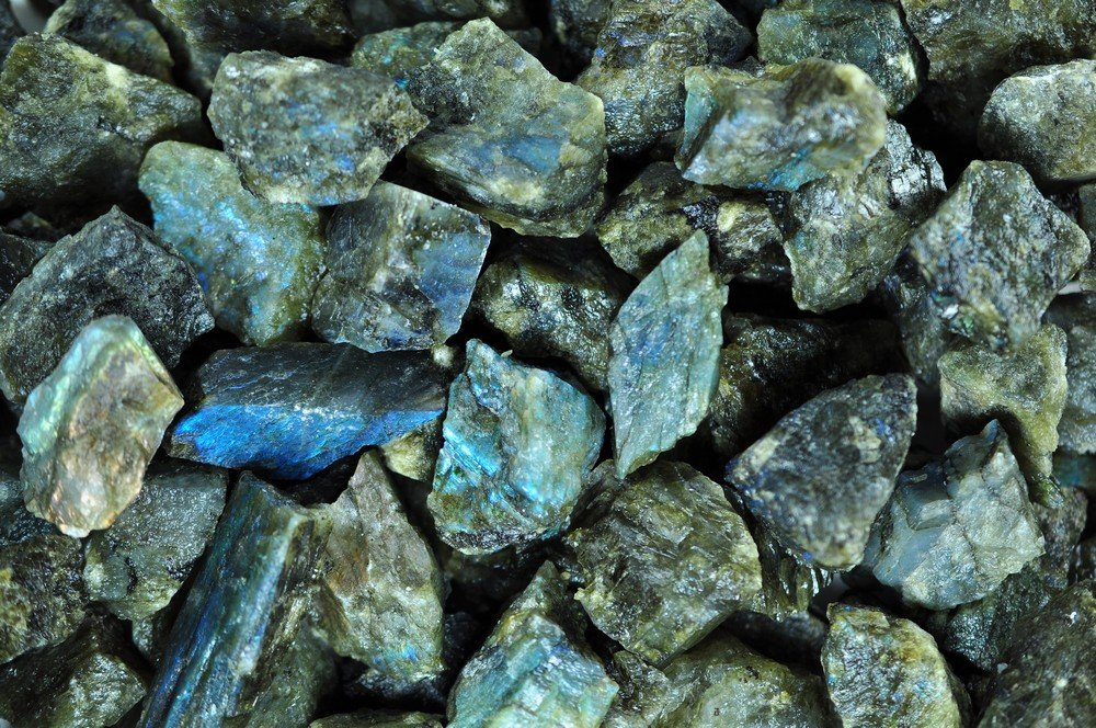 Fantasia Materials: 3 lb Labradorite Mine Run Rough - (Select 1 to 18 lbs) - Raw Natural Crystals for Cabbing, Cutting, Lapidary, Tumbling, Polishing, Wire Wrapping, Wicca and Reiki Crystal Healing