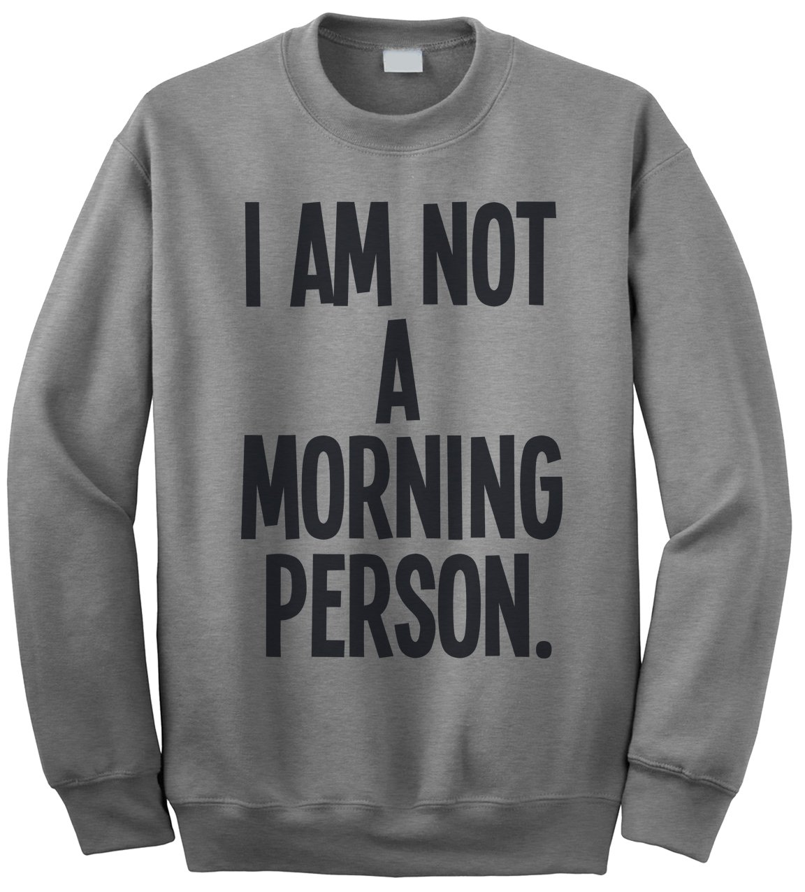 I Am Not A Morning Person Funny Slogan Mens Sweatshirt [Apparel]