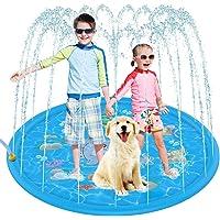 Sprinkler Play Mat 172cm, Splash Pad Sprinkler for Kids, Outdoor Sprinkler Mat Water Toys, Inflatable Splash Baby…