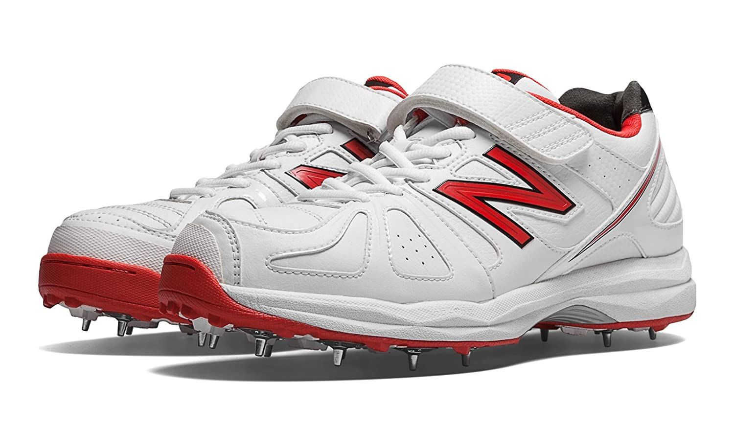new balance red. new balance ck4040av cricket spikes (white/red): amazon.in: sports, fitness \u0026 outdoors red