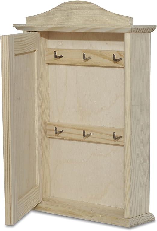 Creative Deco Caja Armario para Llaves Madera con Puerta | 6 ...