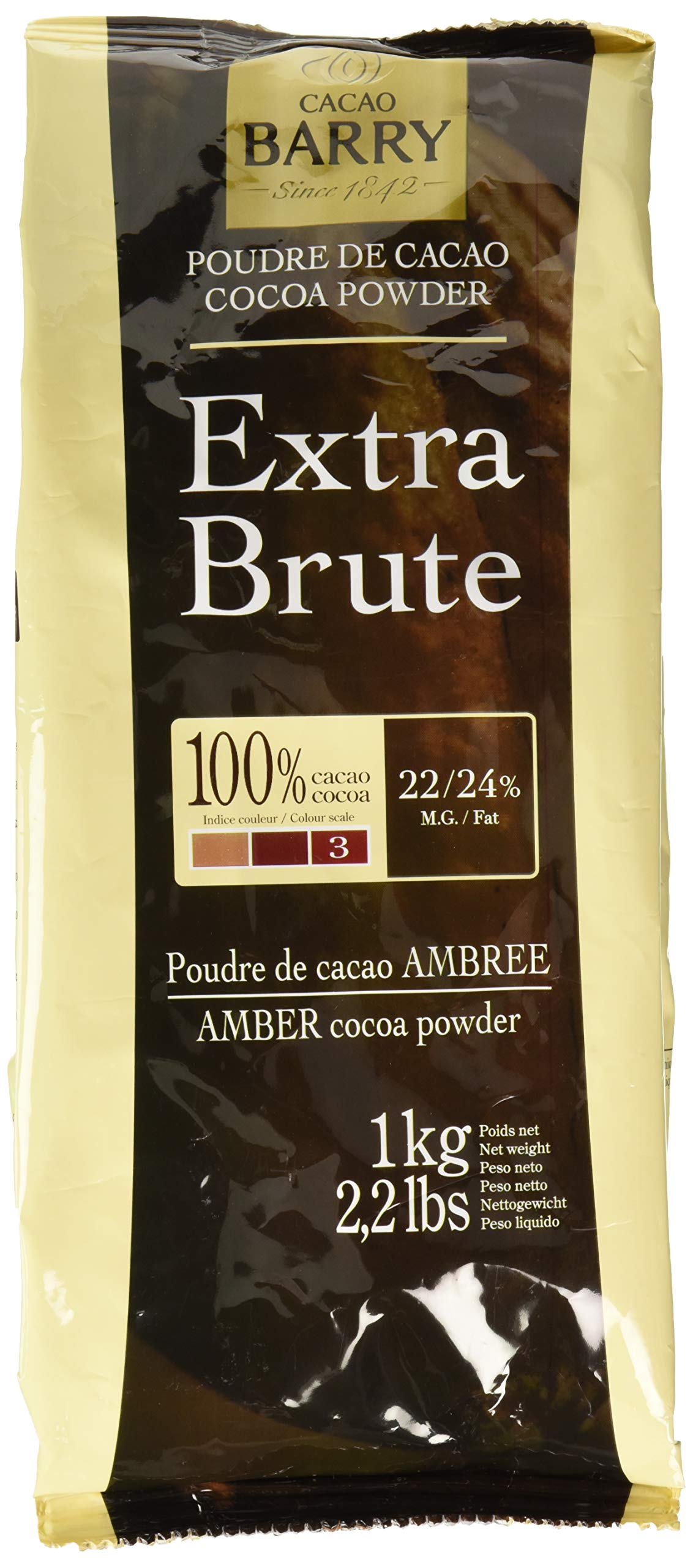 Cacao Barry Cocoa Powder 100% Cocoa Extra Brute, 2.2 lb (Pack of 2) by Cacao Barry (Image #1)