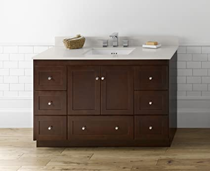 RONBOW Shaker 48 Inch Bathroom Vanity Base Cabinet With Soft Close Wood  Door, Cabinet Drawer