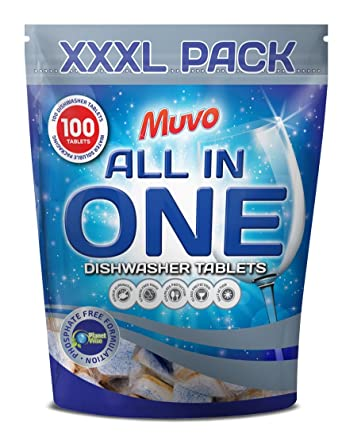 MuVo n07630 pastillas de lavavajillas, Original (Pack de 100 ...