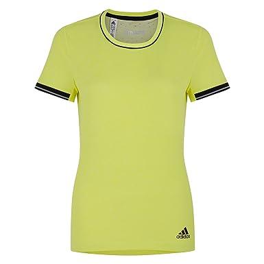 buy popular 5baaa 5d98e adidas Womens Climachill Running T-Shirt, Top - Neon Yellow (XS)   Amazon.co.uk  Clothing