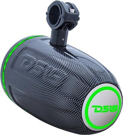 "DS18 HYDRO 8/"" Wakeboard Boat Wake Tower Speaker Enclosure RGB LED Carbon Fiber"