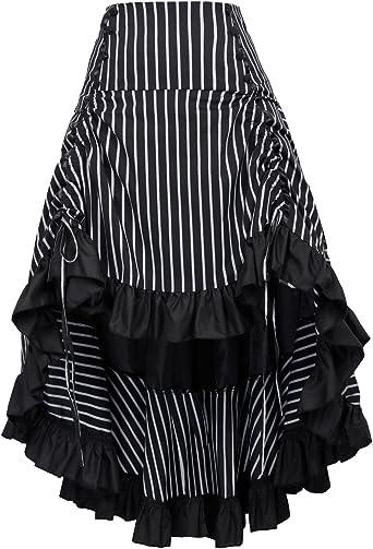 Belle Poque Falda de Mujer Retro Enagua Vintage Steampunk Ruffle ...