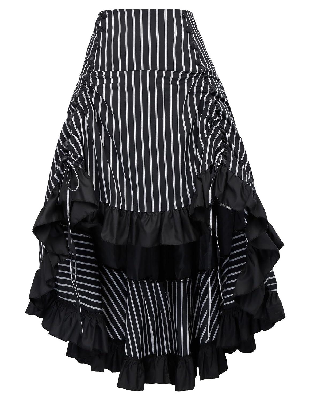 f58ff321b1e victorian costume for girls steampunk costume women victorian gothic skirt  for women. Style  Pinstriped pattern