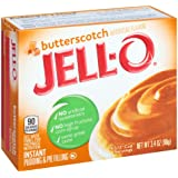 Jell-O Butterscotch Instant Pudding Mix 3.4 Ounce Box (Pack of 6)