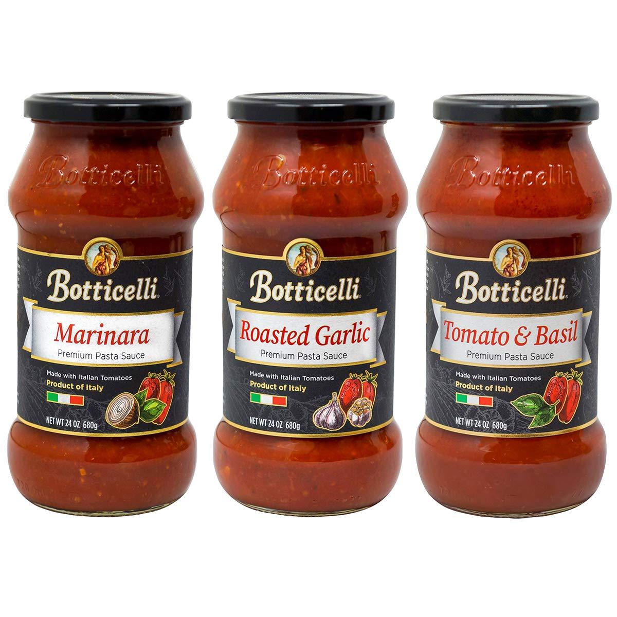 Botticelli Premium Pasta Sauce Variety Pack (24Oz) (3)