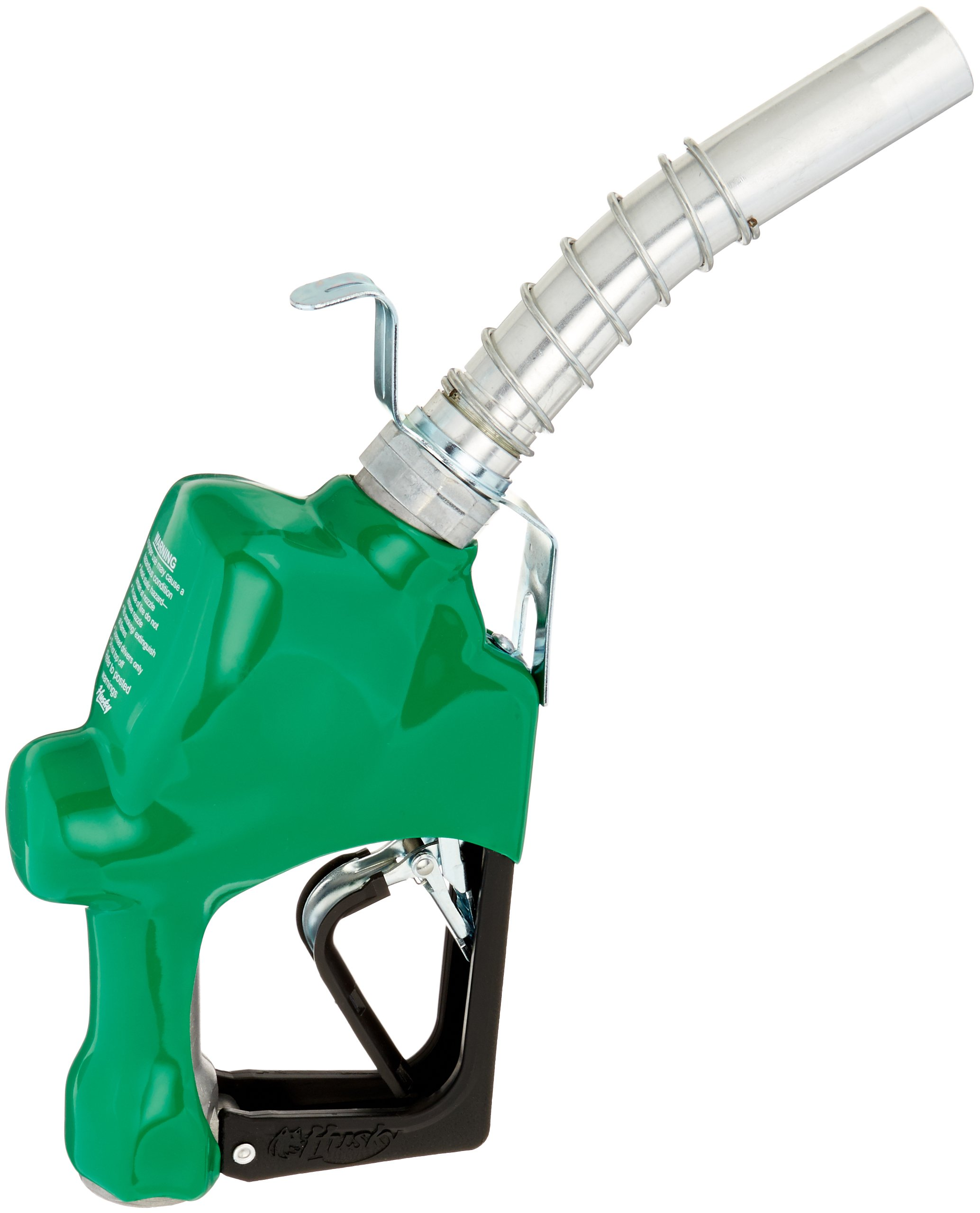 Husky 045710N-16 New 1GS Heavy Duty Diesel Nozzle with 3-Notch Hold Open Clip, Full Grip Guard, BP Green Hand Guard and Hanging Hook