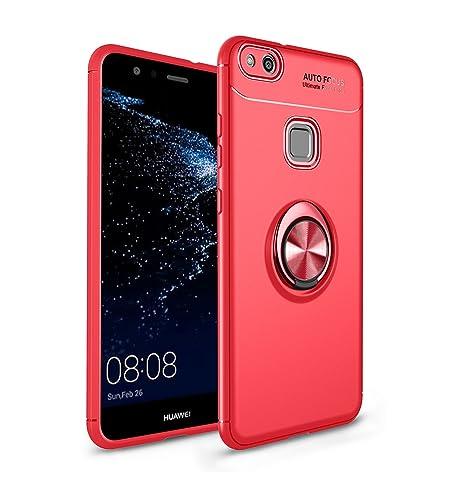 Funda Huawei P10 Lite/Nova lite Case, 360 Grados Caso Carcasa Case Cover Skin móviles telefonía Silicona Líquida Fundas Magnético coche Kickstand ...