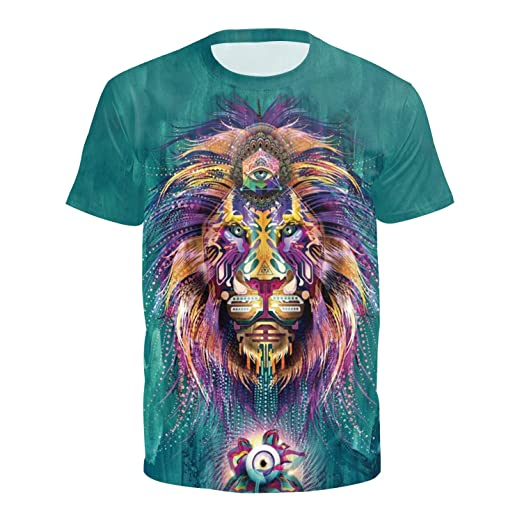 5228b4a54 Wenee Women's Men's Unisex T-Shirt,Graphic 3D All Over Print Short Sleeves  Cool