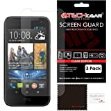 [Pack of 3] TECHGEAR® HTC Desire 310 ULTRA CLEAR LCD Screen Protector Guard Covers with Cleaning Cloth & Application Card