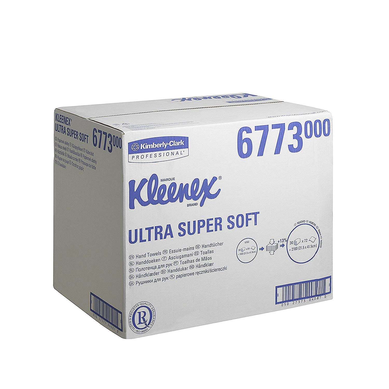 Kleenex 6773 Toallas Secamanos, Interplegadas, 72 Servicios, 30 Paquetes, 3 Capas, Blanco