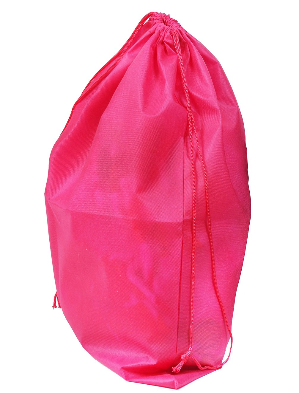 Set of 2 Large Travel Boot Bags, Portable Shoe Bags with Drawstring, 20'' x 24'', Hot Pink