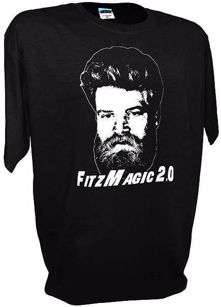 finest selection 153b7 0b403 Achtung T Shirt LLC Mens Fitzmagic 2.0 Ryan Fitzpatrick NY Jets Football QB  14 Funny Tee
