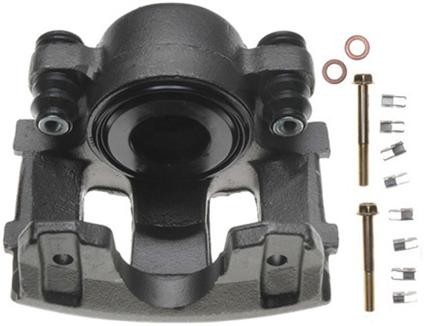 Friction Ready Non-Coated Remanufactured ACDelco 18FR984 Professional Front Driver Side Disc Brake Caliper Assembly without Pads