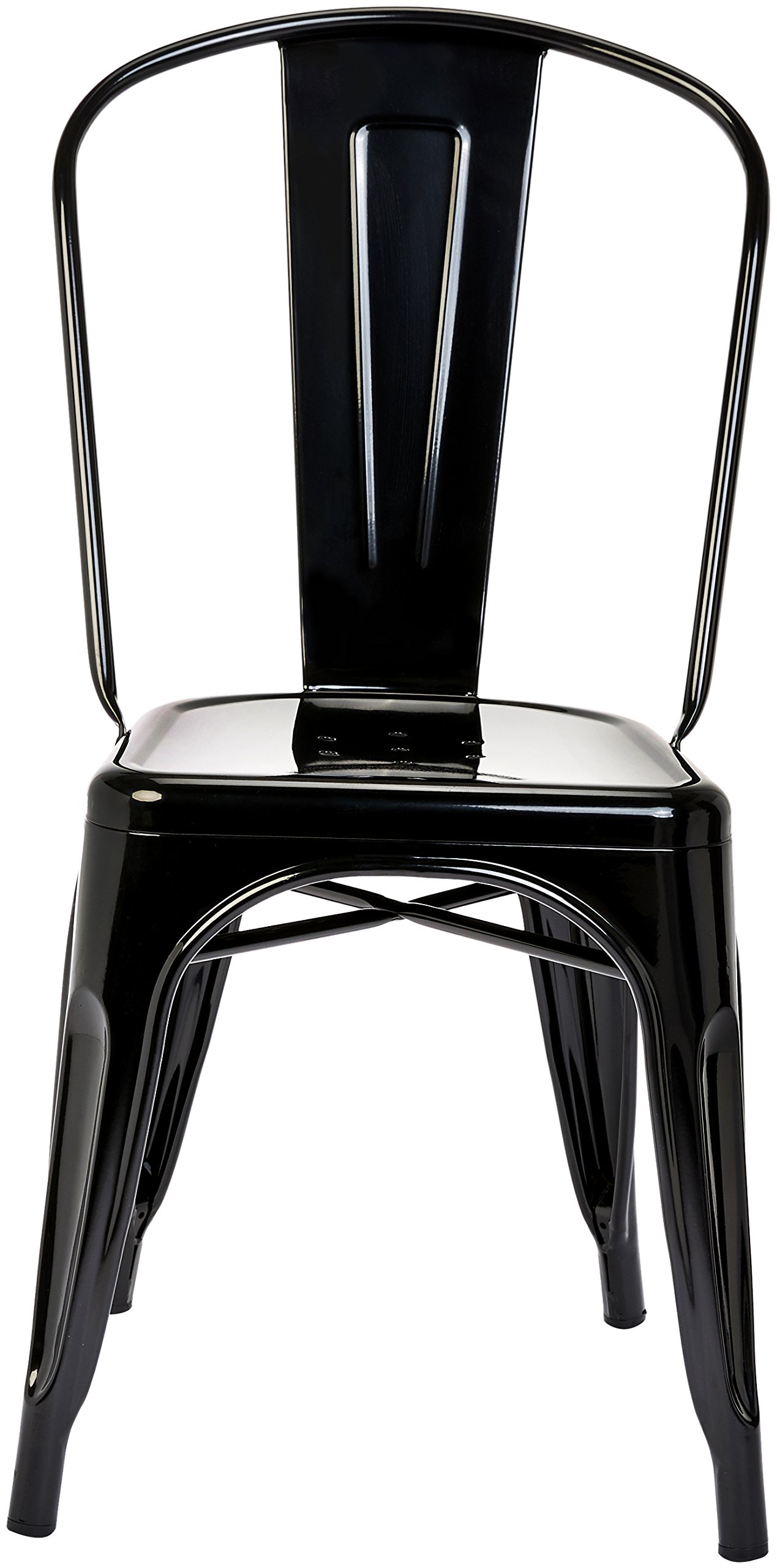 Pioneer Square Haley Stackable Metal Chair, Set of 4, Jet Black by Pioneer Square (Image #3)
