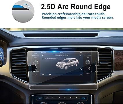 LFOTPP Tempered Glass Car Navigation Screen Protector for 2018 2019 Volkswagen Atlas 8 Inch, 9H Infotainment Screen Center Touch Screen Protector Anti ...