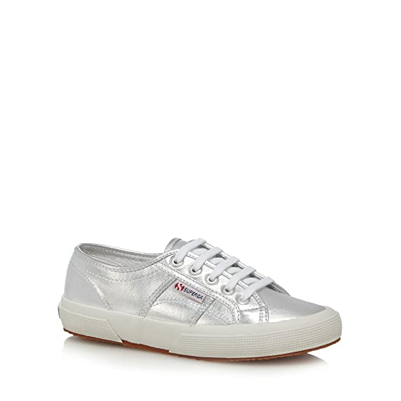 710fe775aa1c7 Superga Womens Silver Metallic Lace Up Trainers: Superga: Amazon.co ...