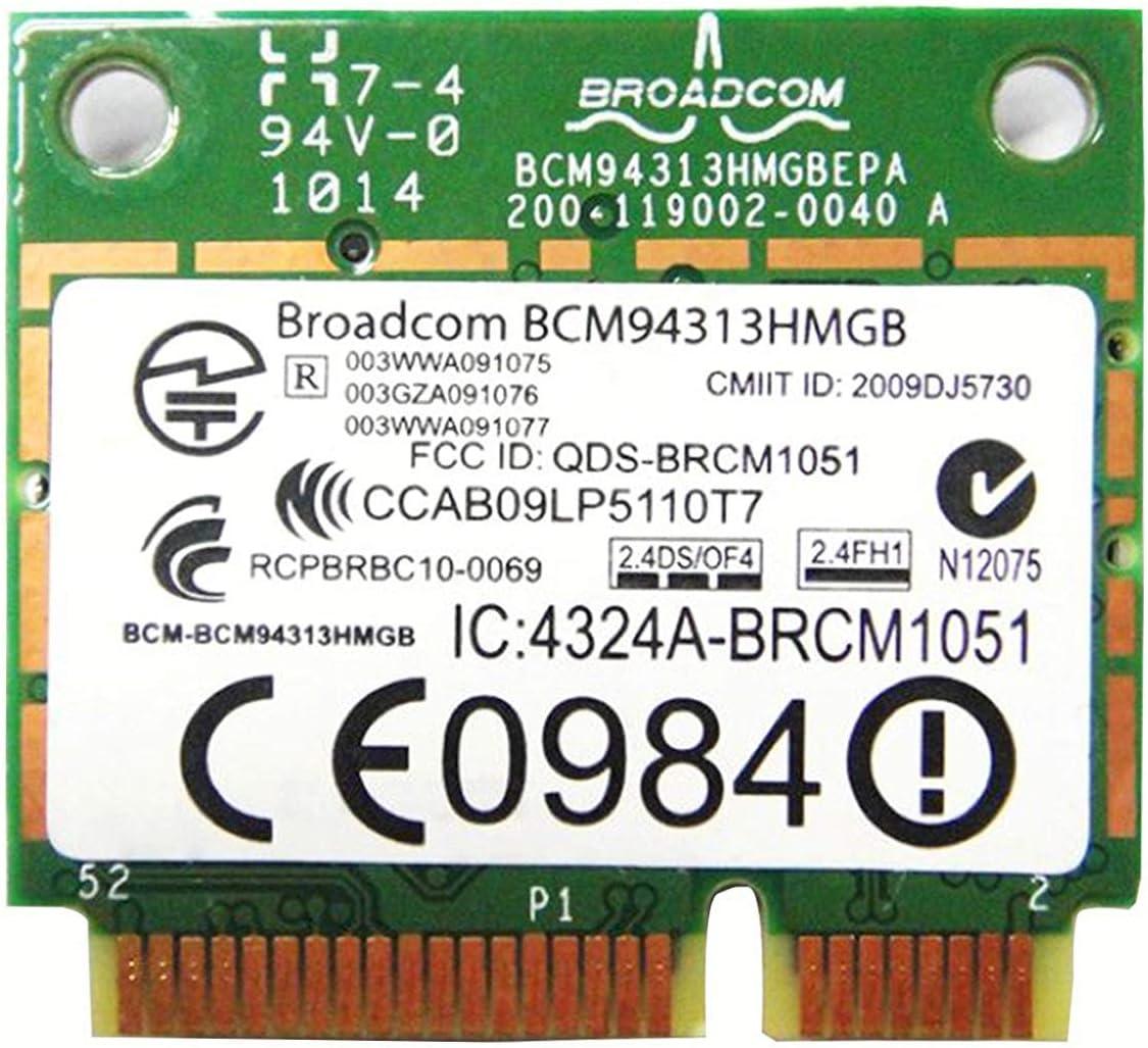 BroadCom BCM94313HMGB BCM4313 Half Mini PCIe BT Bluetooth WLAN WIFI Wireless Card for HP Laptop 598711-001 600370-001 657308-001 657325-001