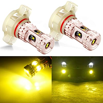 JDM ASTAR Bright 1020 High Power 5202 5201 Golden Yellow LED Fog Light Bulbs: Automotive