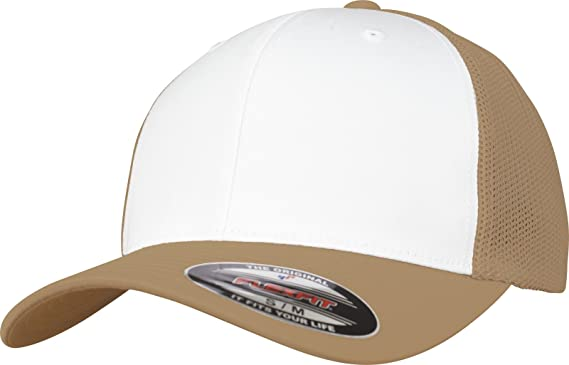 bb31947ac91 Image Unavailable. Image not available for. Color  Flexfit Mesh Trucker  Stretchable Cap ...