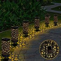 Lámparas Solares para Jardín, 6 Piezas Luces Solar Exterior Jardin Lámpara Solar Jardín Luz Tren Luces Exterior Luz…