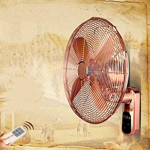 Ventilador de Pared, Wall Fan Ventilador eléctrico Hogar Antiguo Control Remoto Ventilador de Pared de Metal Restaurante de 16 Pulgadas con Temporizador, Ventilador Remoto montado en la Pared: Amazon.es: Hogar