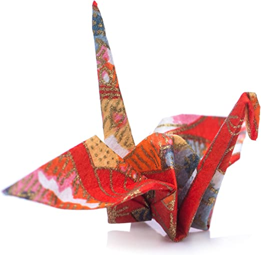 Amazon.com: Japanese Origami Cranes - Pre-Folded Pack Of 10 In Red