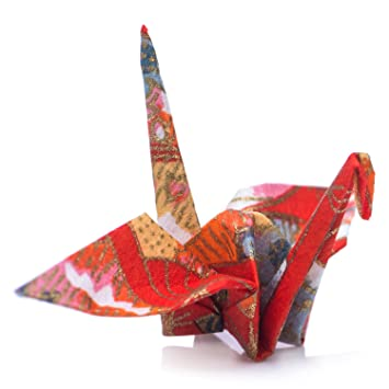 Amazon Japanese Origami Cranes Pre Folded Pack Of 10 In Red