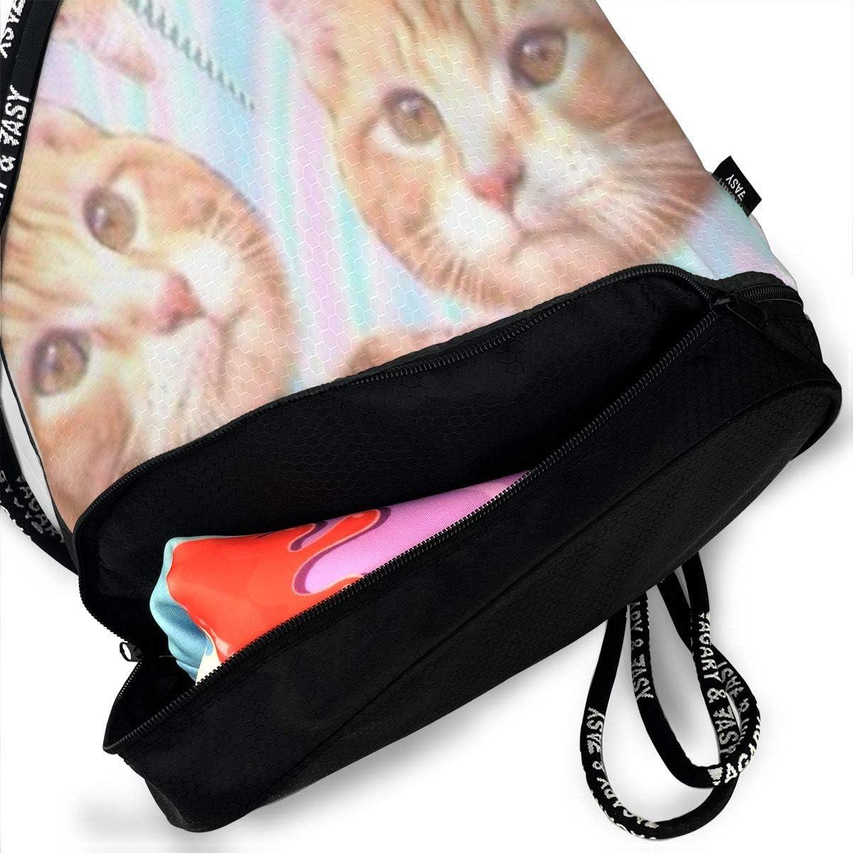 HUOPR5Q Smile Sweet Cute Fruit Drawstring Backpack Sport Gym Sack Shoulder Bulk Bag Dance Bag for School Travel