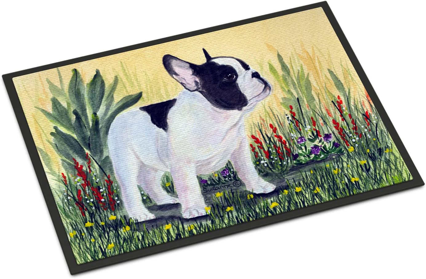 Caroline s Treasures SS8109JMAT French Bulldog Indoor or Outdoor Mat 24×36 Doormat, 24H X 36W, Multicolor