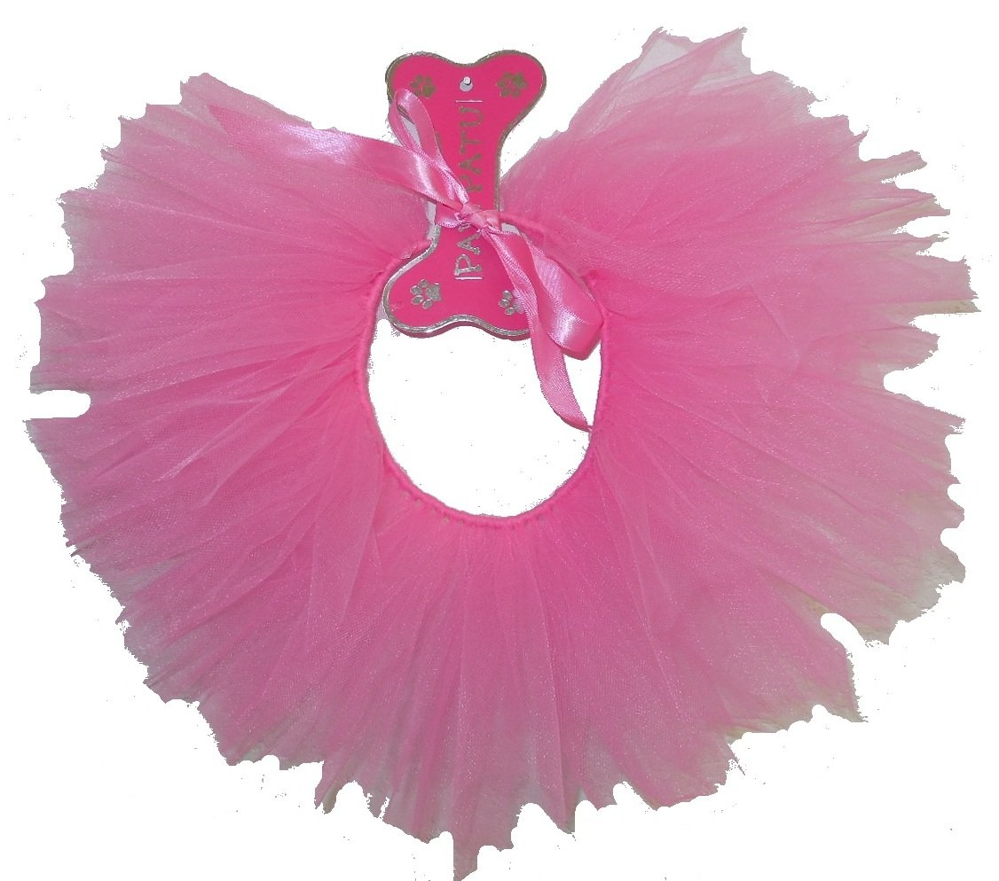 PAWPATU Tulle Tutu for Dogs or Cats, X-Large, Hot Pink