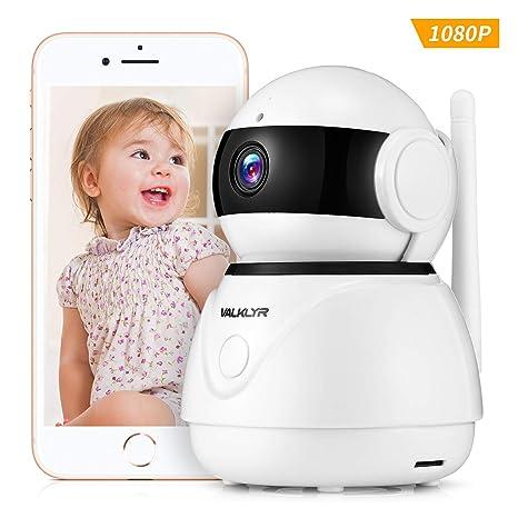 VALKLYR Cámara de Vigilancia WIFI 1080P FHD con Audio de 2 Vías, Cámara IP Interior