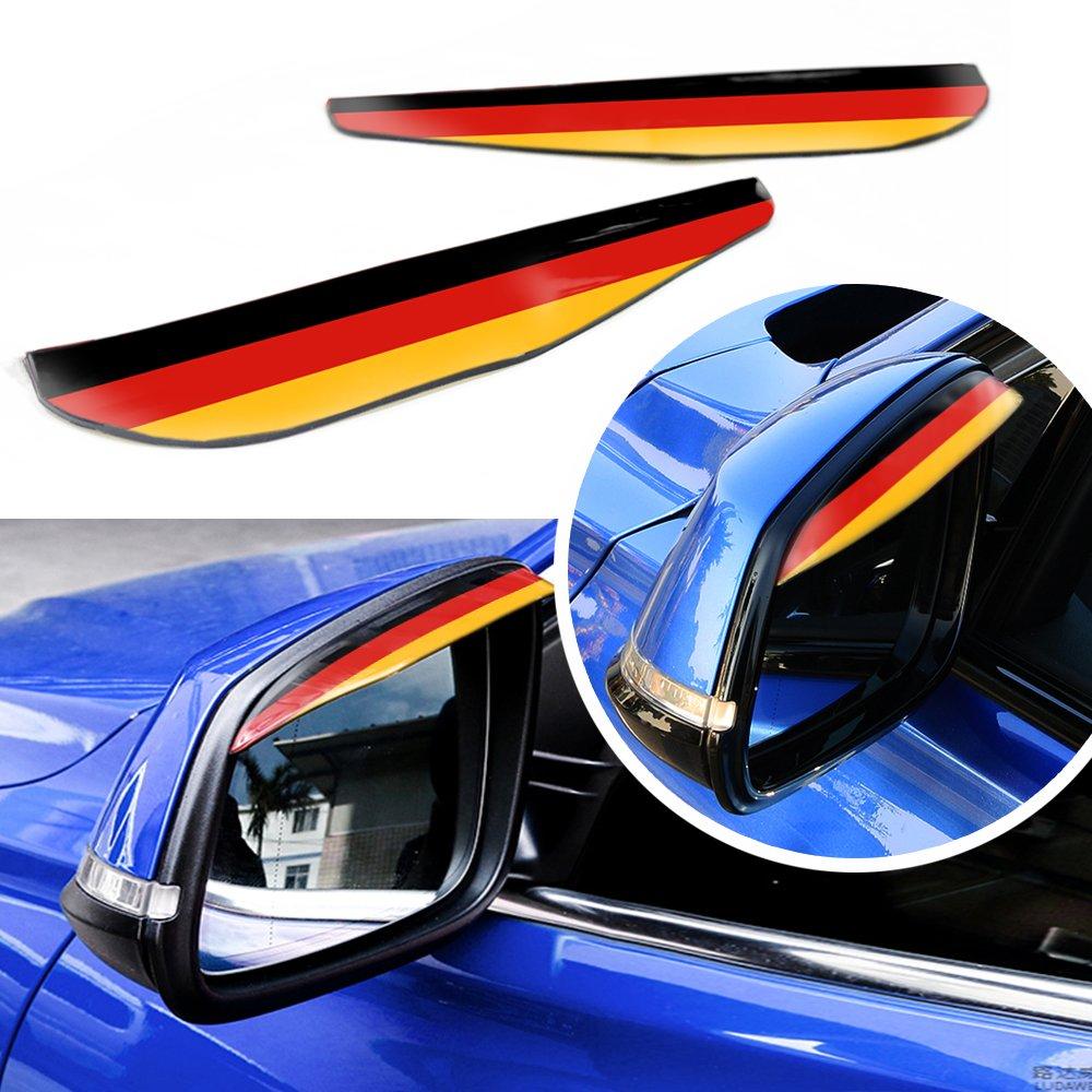 Bandera francesa Pegatina espejo del coche cubierta del espejo lateral del coche Protector del espejo del ala Protector impermeable de la lluvia de la ceja Protector para coche sedán hatchback SUV H-RV MPV Camioneta pickup MyGone