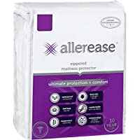 AllerEase Ultimate Protection and Comfort Waterproof, Bed Bug, Antimicrobial Zippered Mattress Protector