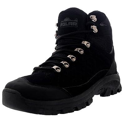 Polar Products Polar Mens Rambling Explorer Hiking Walking Waterproof Winter Outdoor Boots Black USUK 7 EU41 WT0013 Sale