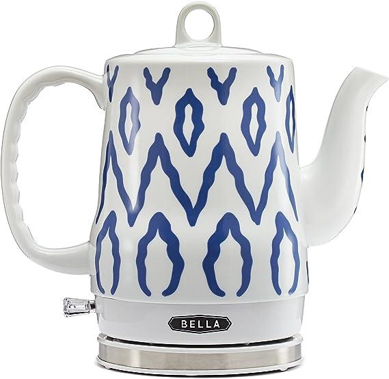 BELLA Electric Tea Kettle, Blue Aztec