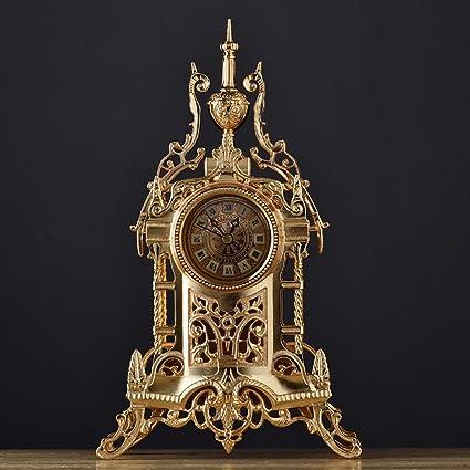 Jack Mall Reloj retro de estilo europeo Relojes antiguos Reloj de mesa de metal de la