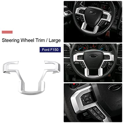 Steering Wheel Cover Trims Kit For 2015 2016 2017 Ford F150 Accessories Silver