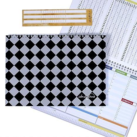 Campus Siena Black- Planner Semanal 30 X 21 - Agenda Planner ...