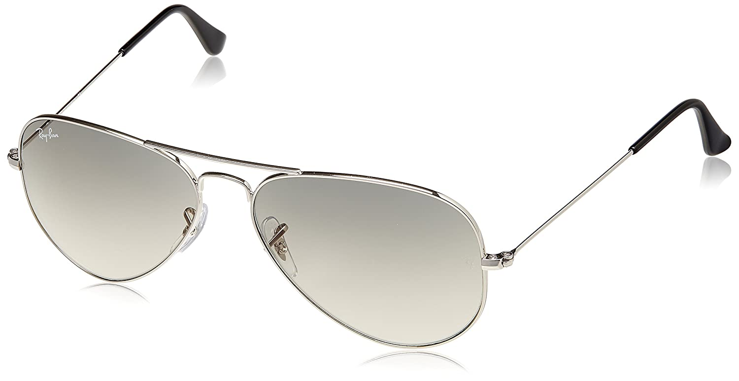 2d5b7274cee02 Rayban Aviator unisex Sunglasses (0RB3025I003 3258 58 millimeters Silver)   Amazon.in  Clothing   Accessories