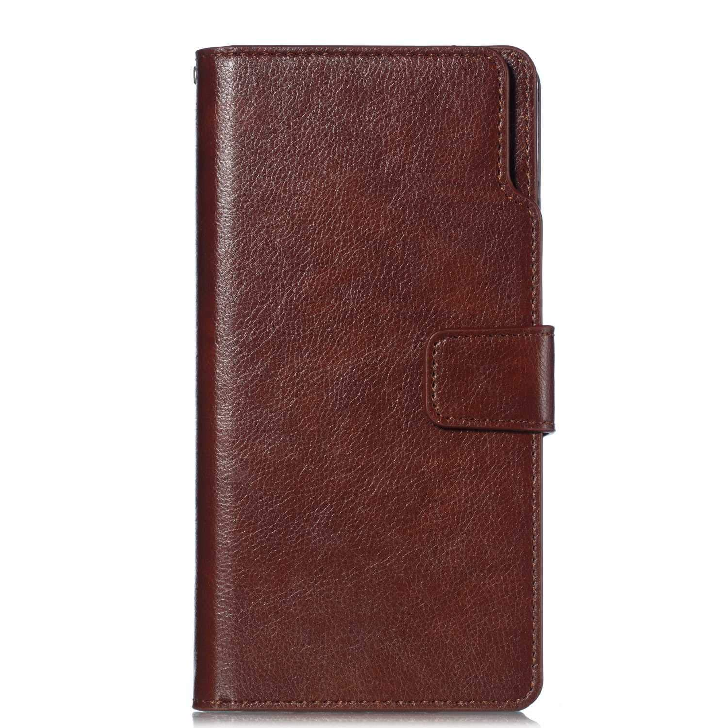 UNEXTATI Galaxy Note 8 Wallet Case, Leather Folding Flip Case with 9 Card Holder, Classic Design Protective Cover Bumper Case for Samsung Galaxy Note 8 (Brown #1)