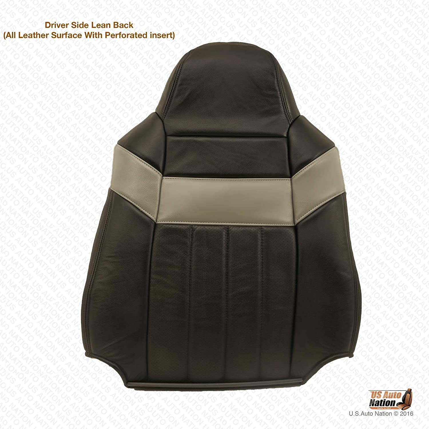 US Auto Nation Fits Ford F250 Harley Davidson Driver Lean Back Perforated Leather Cover Black