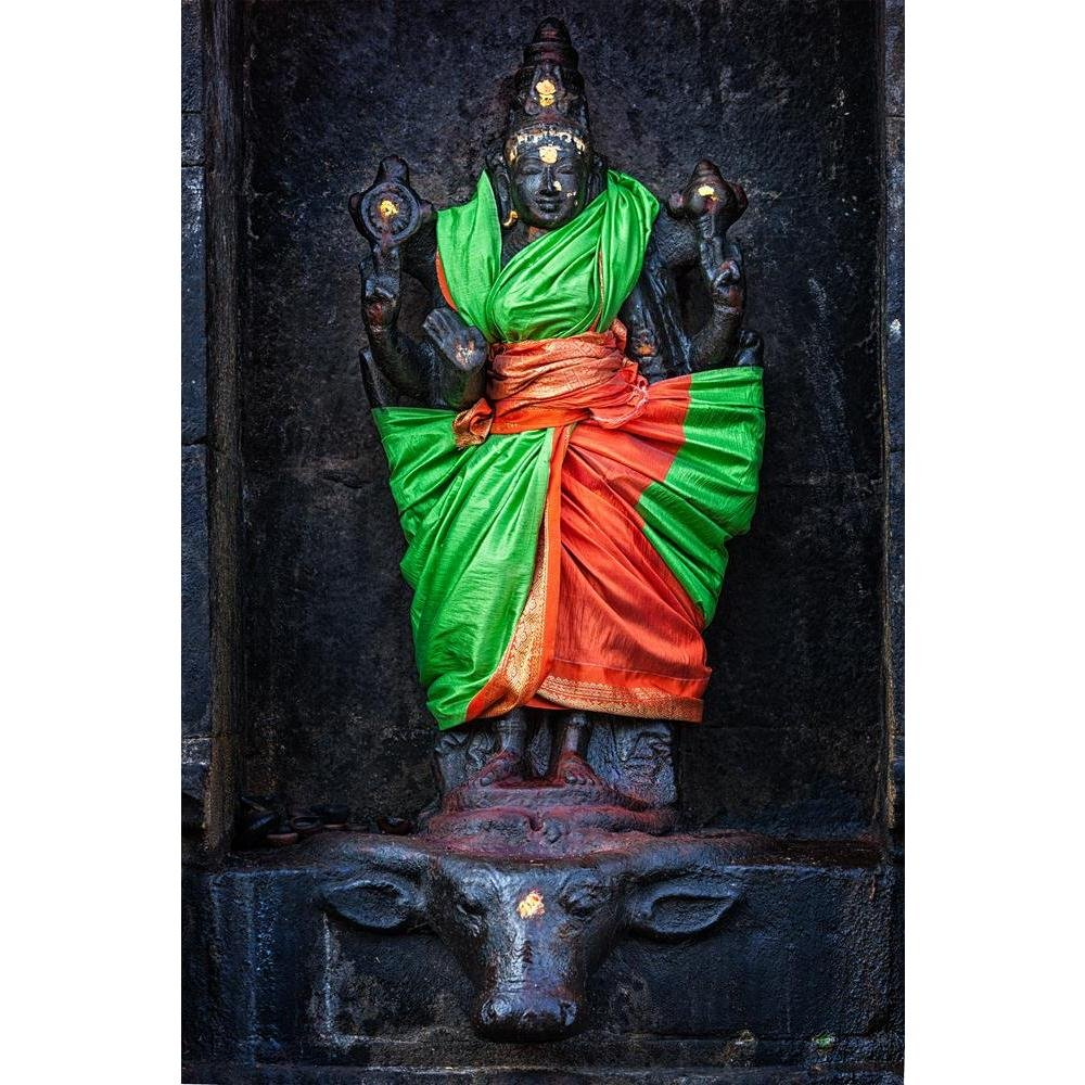Pitaara Box PB Goddess Durga Temple Darasuram, Tamil Nadu India Unframed Canvas Painting 16 x 24inch by Pitaara Box (Image #1)